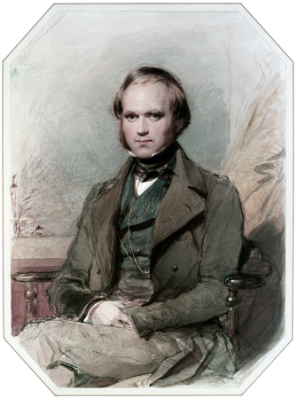 An 1840 portrait of Charles Darwin by George Richmond.