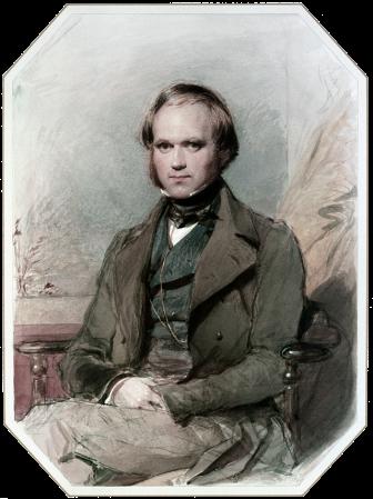 An 1840 portrait of Charles Darwin by George Richmond.