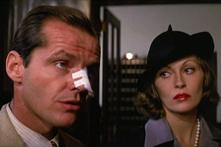 Jack Nicholson and Faye Dunaway in Roman Polanski's Chinatown.