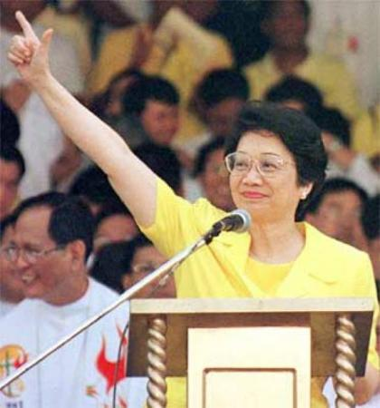 Corazon Aquino in 1986.