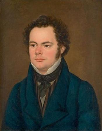 An 1827 portrait of Franz Schubert by Franz Eybl.