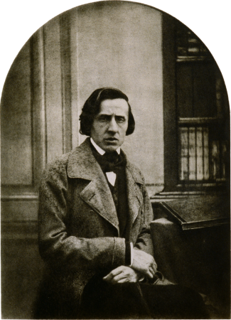 An 1849 photograph of Frédéric Chopin by Bisson,