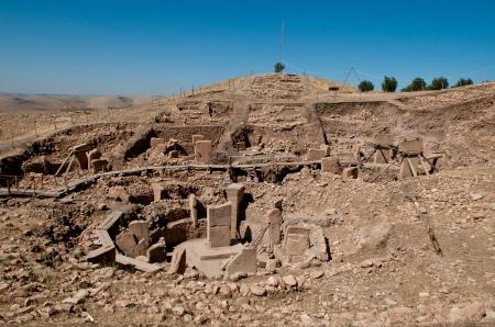 The excavation site at Göbekli Tepe, in Turkey.
