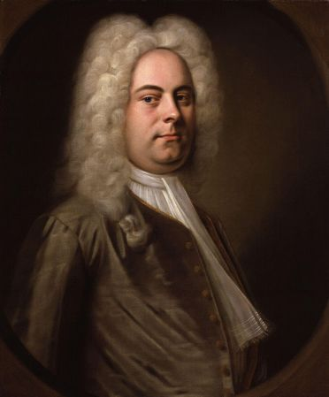 A portrait of George Frideric Handel by Balthasar Denner, from c. 1726–1728.