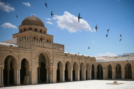 A view of the Great Mosque of Kairouan.