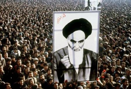 A scene from the Iranian Revolution.