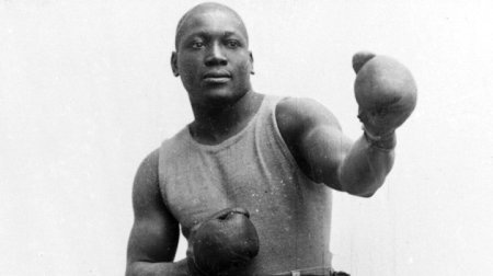 A 1910 photo of Jack Johnson.