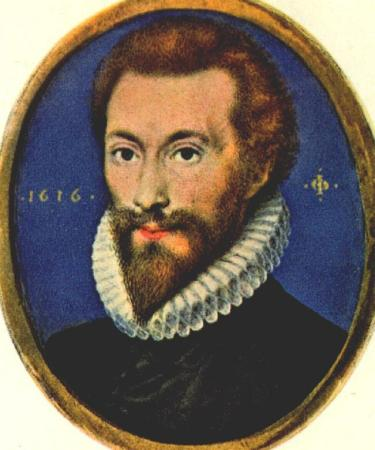 A portrait of John Donne.