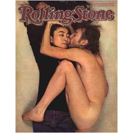 Annie Leibovitz's portrait of John and Yoko on the cover of Rolling Stone.