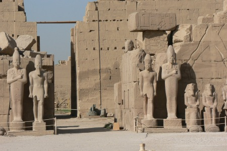 A view of the Karnak Temple complex in Luxor, Egypt.