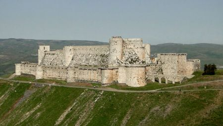 Crusading knights renovated a Kurdish fort into Krak des Chevaliers.