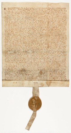 One of the four existing copies of a 1297 version of the Magna Carta.