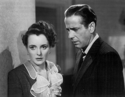 Humphrey Bogart and Mary Astor in John Huston's The Maltese Falcon.