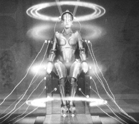 A still image from Metropolis.