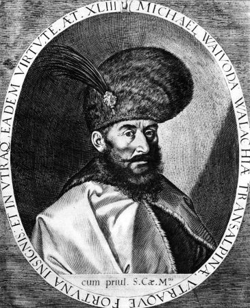 A portrait of Michael the Brave by Aegidius Sadeler II.
