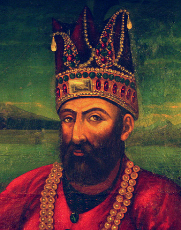 A portrait of Nader Shah.