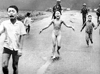 Vietnamese children after napalm attack.