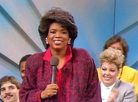 Oprah Winfrey on the first episode of The Oprah Winfrey Show.