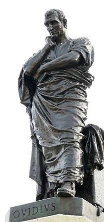 A statue of Ovid in Constanta, Romania.