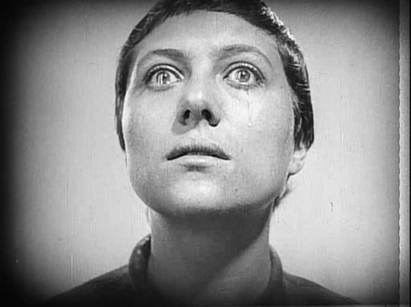 Maria Falconetti in Dreyer's The Passion of Joan of Arc.