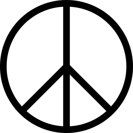 The peace sign began as the symbol for the Campaign for Nuclear Disarmament.