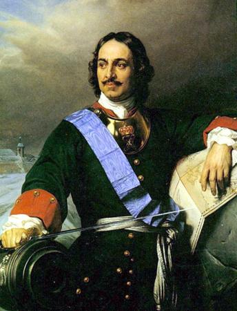 A portrait of Peter the Great.