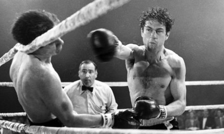 A still image from Raging Bull.