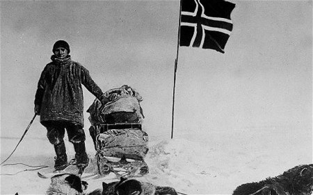 Roald Amundsen reaches the South Pole.