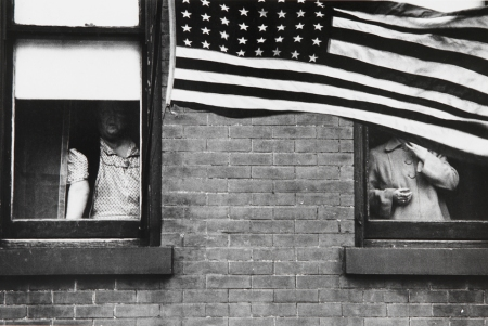 Parade, Hoboken, New Jersey, a photograph from Robert Frank's The Americans.