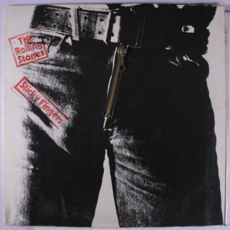 The cover art for the Rolling Stones' Sticky Fingers album was designed by Andy Warhol.