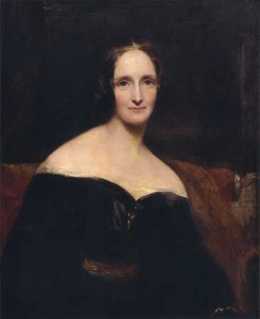 An 1840 portrait of Mary Shelley by Richard Rothwell.