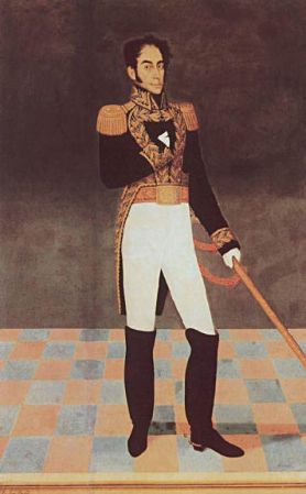 An 1825 portrait of Simón Bolívar by José Gil de Castro.