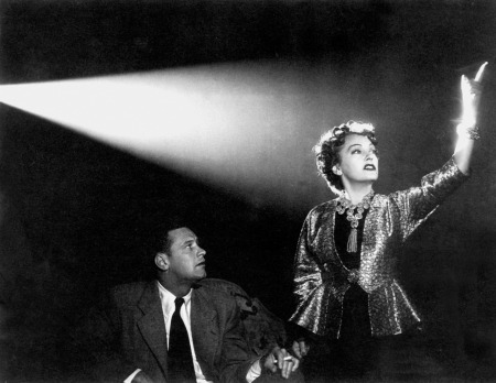 William Holden and Gloria Swanson in Billy Wilder's Sunset Blvd.