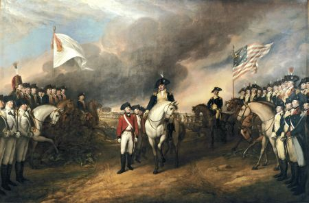 John Trumbull's painting The Surrender of Lord Cornwallis.