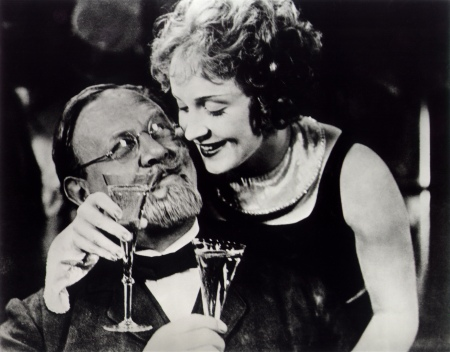 Emil Jannings and Marlene Dietrich in von Sternberg's The Blue Angel.