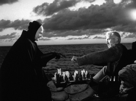 A still image from The Seventh Seal.