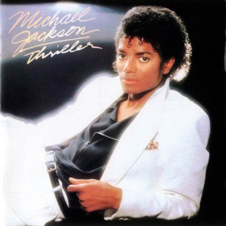 The cover of Michael Jackson's Thriller album.