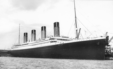Titanic leaves Southampton in April 1912 on her first and last voyage.