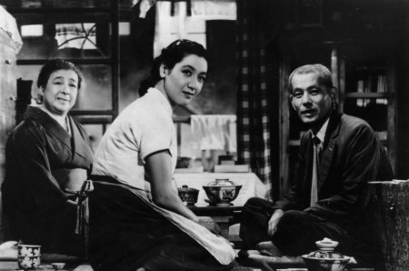A still image from Ozu's Tokyo Story.