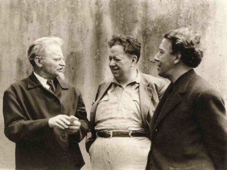 From left: Leon Trotsky, Diego Rivera, and André Breton in a 1938 photo by Fritz Bach.