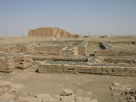 The ruins of the City of Ur.