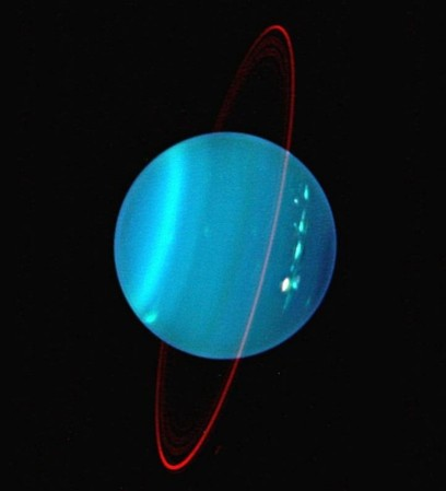 Uranus is the only planet whose axis is tilted on its side.