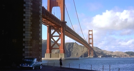 A still image from Hitchcock's Vertigo.