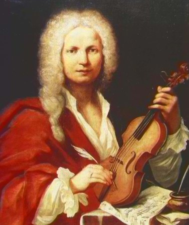 A portrait of Antonio Vivaldi.