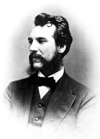 An 1876 photograph of Alexander Graham Bell.