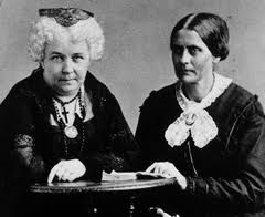An 1870 photograph of Susan B. Anthony and Elizabeth Cady Stanton, taken by Napoleon Sarony.