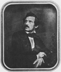 An 1860 photograph of Carl Ferdinand Stelzner.