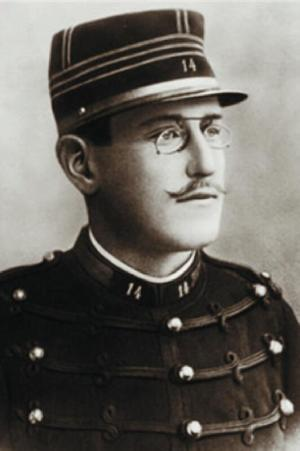 A photograph of Alfred Dreyfus.