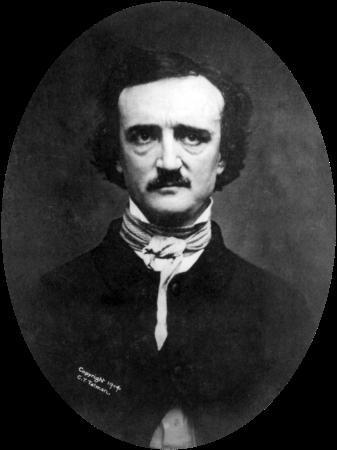 An 1848 daguerreotype of Edgar Allan Poe.