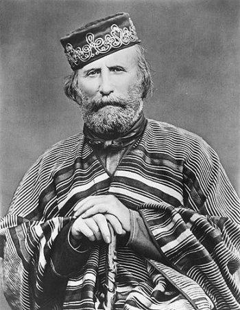 An 1866 photograph of Giuseppe Garibaldi.